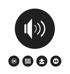 set of 5 editable sound icons includes symbols vector image