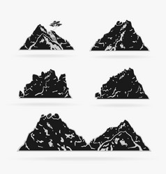 set rock stencil style vector image