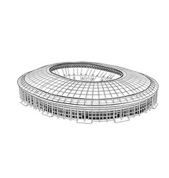 Sketch of the main stadium in moscow vector