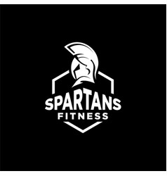 Spartan fitness and gym logo vector