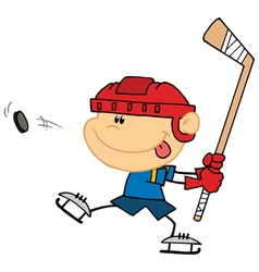 Sporty Caucasian Boy vector image