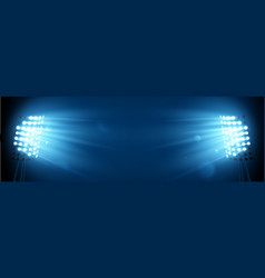 spotlight on the football arena vector image