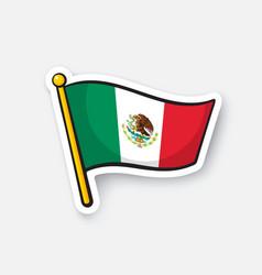 Sticker national flag mexico vector