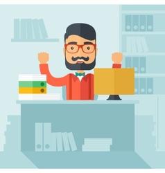 Successful office clerk vector