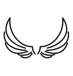 Symbol wings icon outline style vector