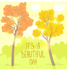 trees autumn vector image