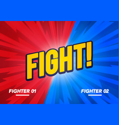 versus and fight background poster in comic style vector image