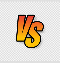 vs letters or versus logo sign isolated on vector image