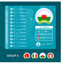 Wales group a football 2020 tournament final vector