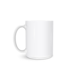 white cup photo realistic isolated on white vector image