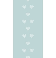 White lace hearts textile texture vertical border vector