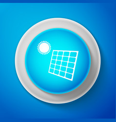 white solar energy panel icon isolated vector image