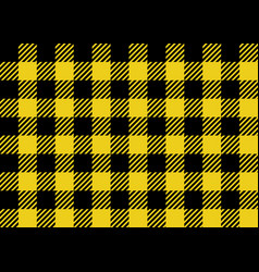 yellow and black lumberjack seamless pattern vector image