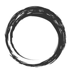 Zen strokes circles paint on white backgroundvect vector