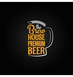 beer bottle glass house design menu background vector image