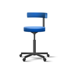 blue dental chair vector image vector image