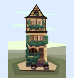 cartoon house building vector image