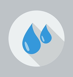 Eco Flat Icon Water Drop vector image vector image