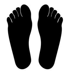 footprint heel black color icon vector image vector image