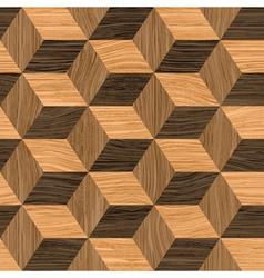 parquet cubes vector image vector image