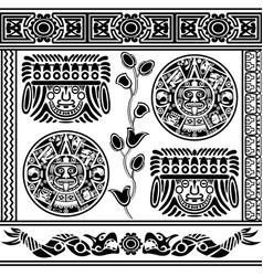 set of ancient american ornaments vector image vector image