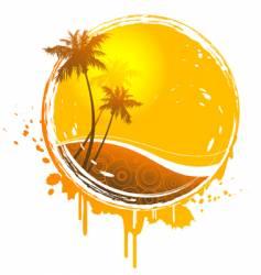 sun splash vector image