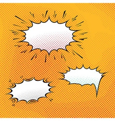 Comic speech bubble art background vector image