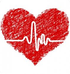 heart beats vector image