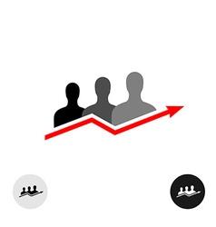 People arrow logo vector image