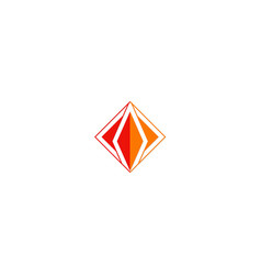 square triangle geometry logo vector image vector image