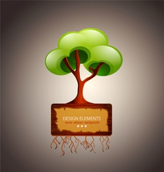 tree with space for text design element vector image