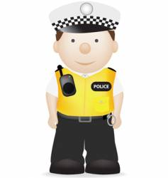 uk traffic police officer vector image vector image