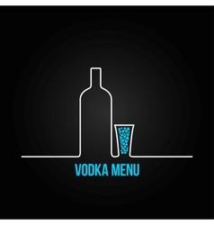vodka bottle glass deign menu background vector image vector image
