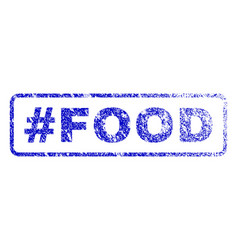 hashtag food rubber stamp vector image