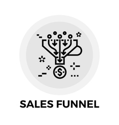 Sales Funnel Line Icon vector image