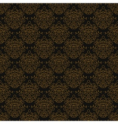 Vintage linear damask pattern with gold lines vector image vector image