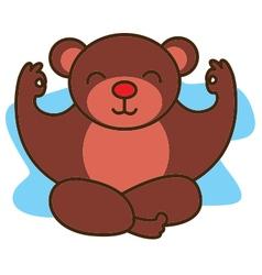 Yoga Bear vector image vector image