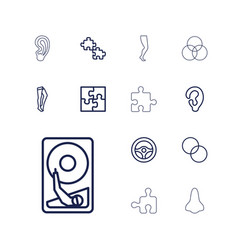 13 part icons vector image
