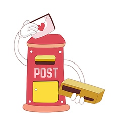 A view of postbox vector