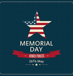 Abstract memorial day background with special vector