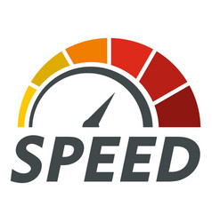 abstract speedometer logo flat style vector image