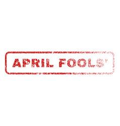 April fools rubber stamp vector