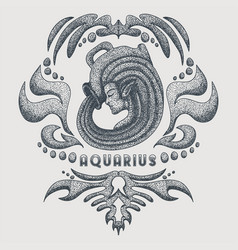 aquarius vintage vector image