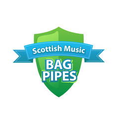 bagpipes - symbol of scottish music vector image