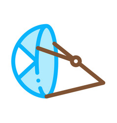 beach umbrella canoeing icon vector image