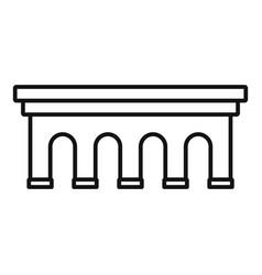 Beton bridge icon outline style vector
