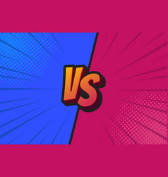 Blue and red fighter background versus screen vector