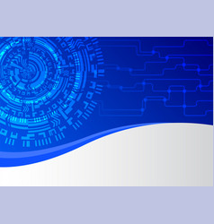Blue network technology abstract background vector
