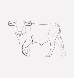 bull icon line element of vector image