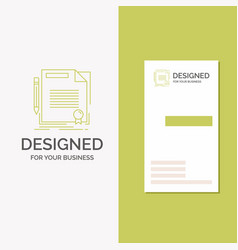 Business logo for agreement contract deal vector